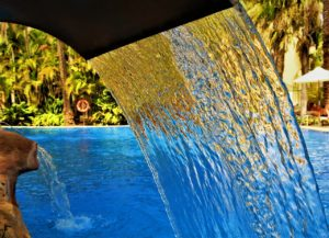The effects of pool stabiliser | water fountain in pool | Allchlor
